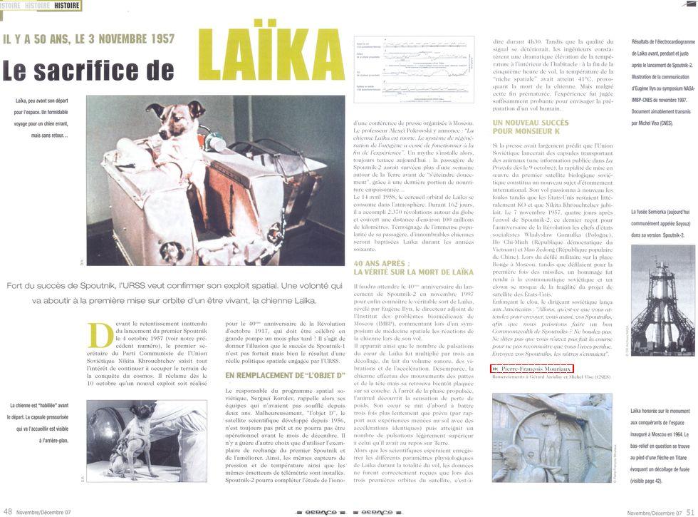 3 novembre 1957 - Spoutnik 2 - Laïka - 1er sacrifié spatial 07110010