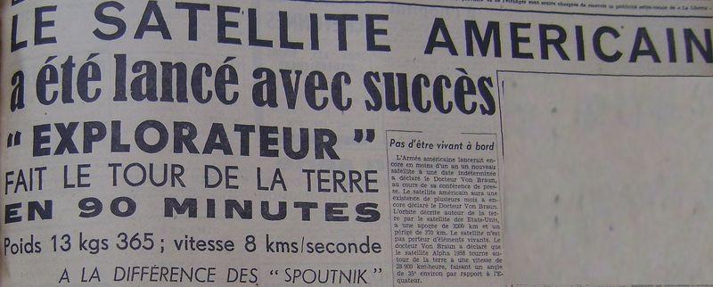 01 février 1958 - Explorer 1 - Les US démarrent la course 58020310