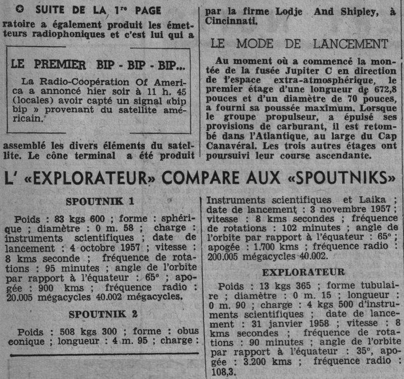 01 février 1958 - Explorer 1 - Les US démarrent la course 58020312