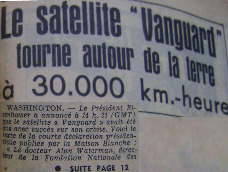 """6 décembre 1957: tentative de lancement Vanguard """"Flopnik"""" 58031910"""