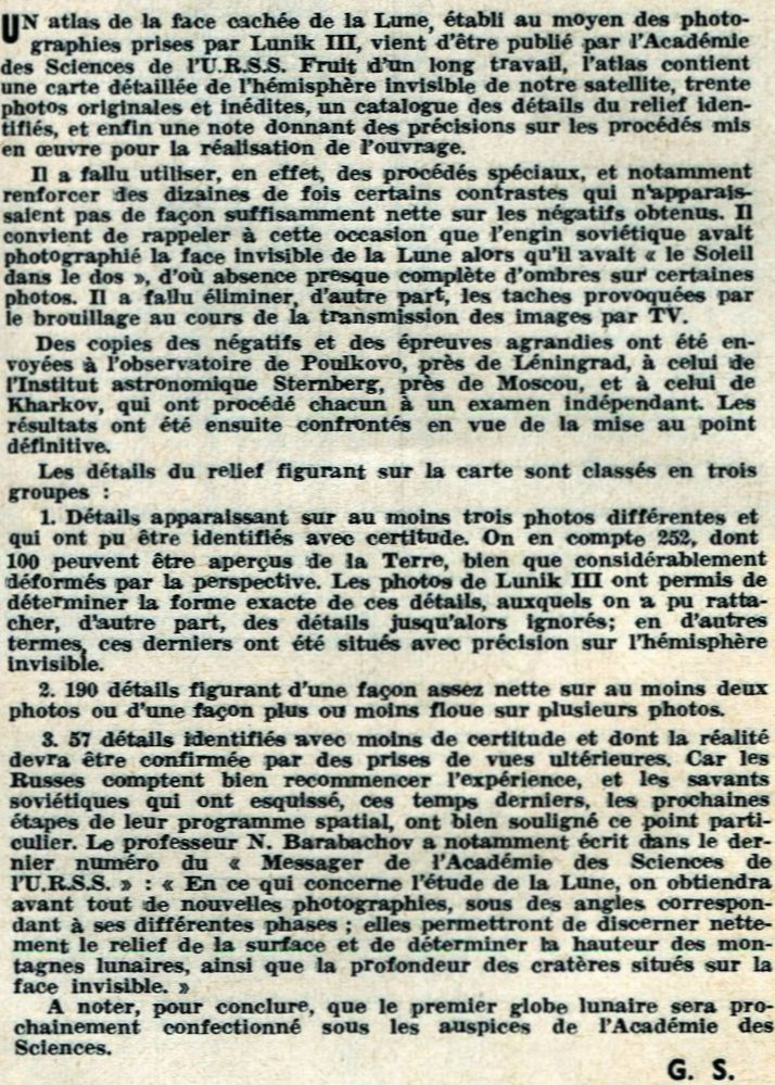 4 octobre 1959 - Lunik III - 1ères photos de la face cachée 61010110
