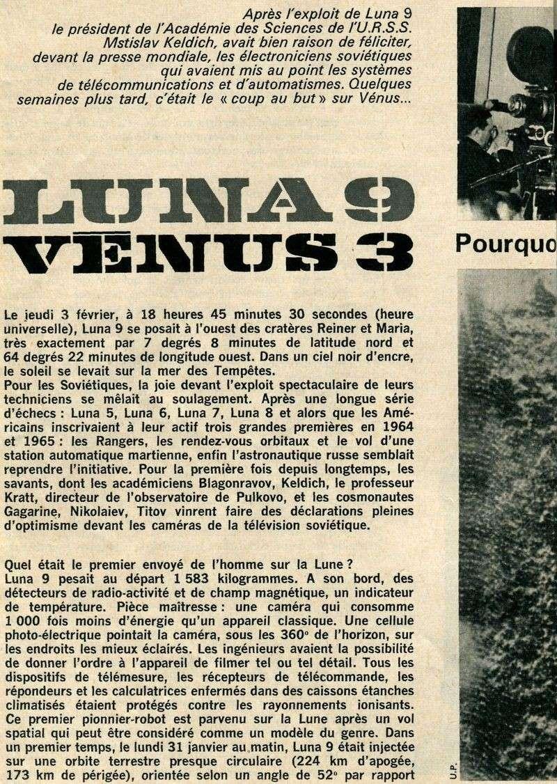 31-1-1966 - Luna 9 - 1er atterrissage en douceur sur la Lune 66040010