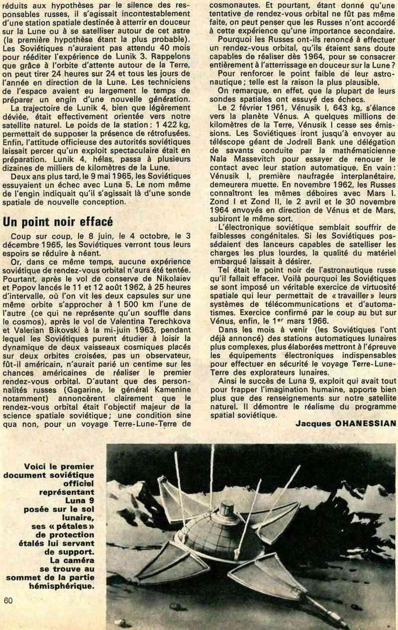 31-1-1966 - Luna 9 - 1er atterrissage en douceur sur la Lune 66040013