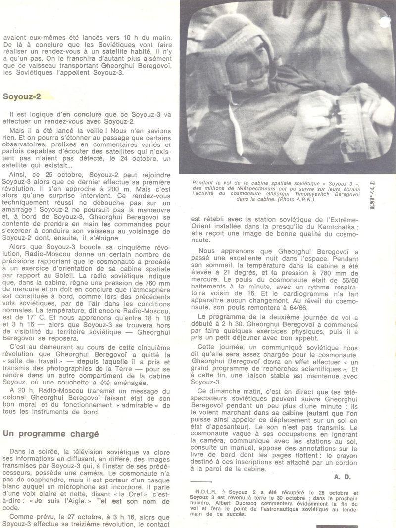 26 octobre 1968 - Soyouz 3 - Gheorghui Beregovoï 68110211
