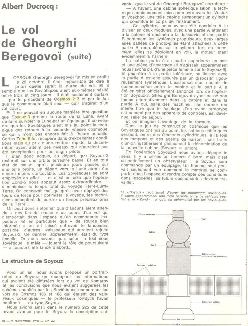 26 octobre 1968 - Soyouz 3 - Gheorghui Beregovoï 68110910
