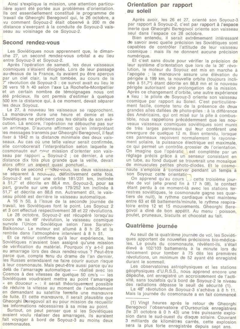 26 octobre 1968 - Soyouz 3 - Gheorghui Beregovoï 68110911