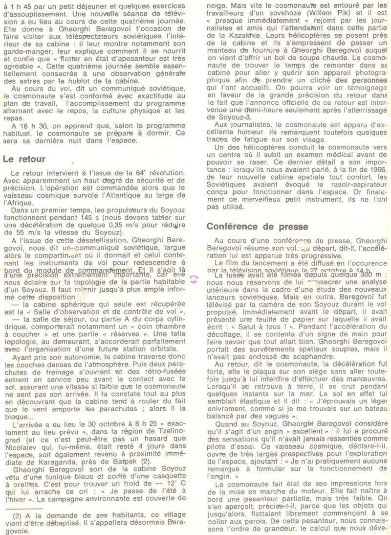 26 octobre 1968 - Soyouz 3 - Gheorghui Beregovoï 68110912