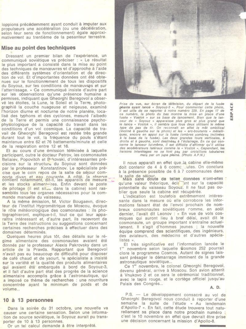 26 octobre 1968 - Soyouz 3 - Gheorghui Beregovoï 68110913