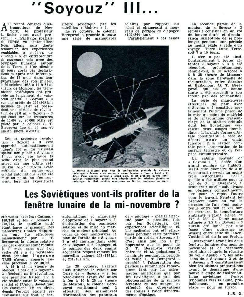 26 octobre 1968 - Soyouz 3 - Gheorghui Beregovoï 68111510