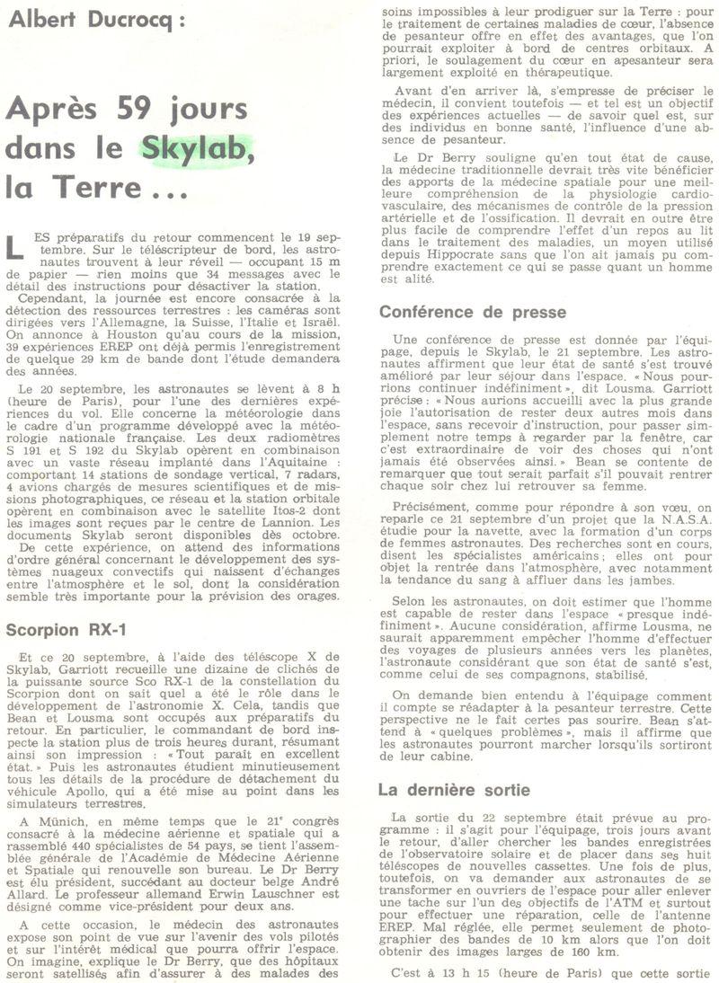 14 mai 1973 - Skylab - Seule station spatiale américaine - Page 2 73101310