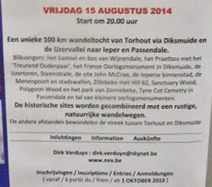 Sur la ligne de front 14-18: 100km à Torhout (B): 15/8/2014 100km_10