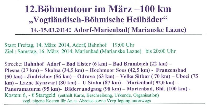 Tour de Bohème (20 places), 100 km : 14-15 mars 2014 Bahnme10