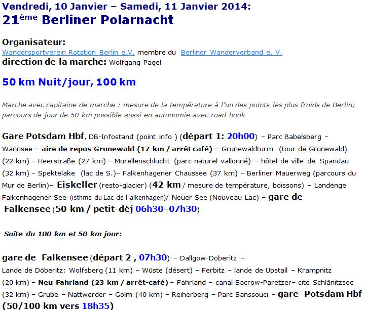 Berliner Polarnacht, 100 / 50 km : 10-11 janvier 2014 Berlin11