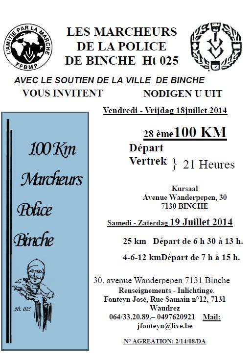 100 km de Binche (B): 18-19 juillet 2014 Binche10