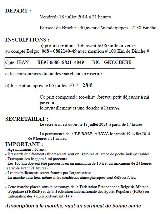 100 km de Binche (B): 18-19 juillet 2014 Binche11