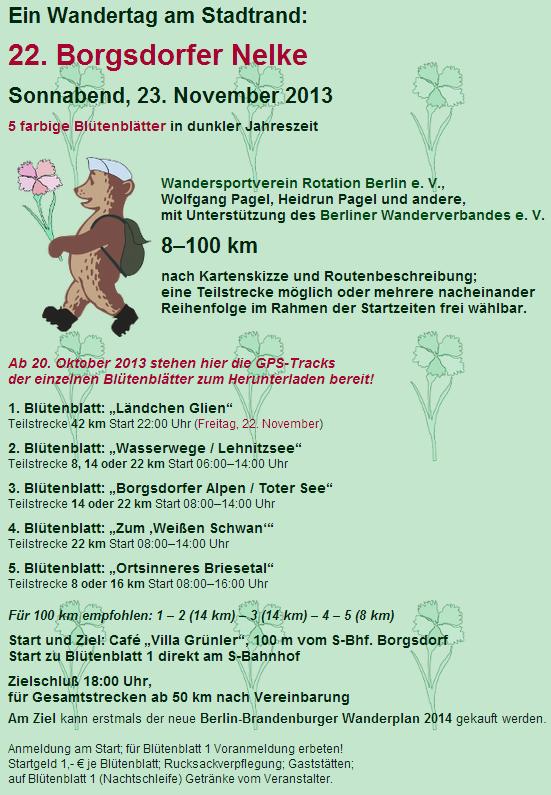 Borgsdorfer Nelke (D), 100km en étoile; 23 novembre 2013 Borgsd10