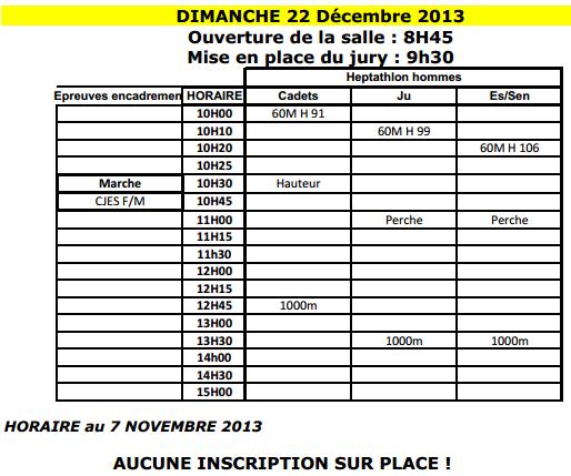 Lille, journée régionale 5000M/3000F: 22 décembre 2013 Compat10
