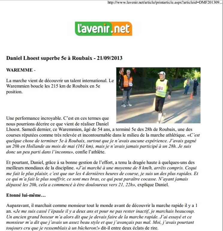 Daniel LHOEST (Belgique): 5ème aux 28h de Roubaix Daniel10