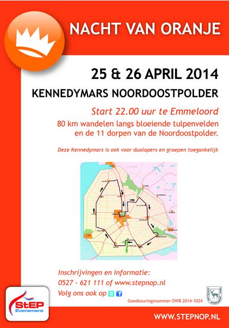 Marche Kennedy Emmeloord/festival de la tulipe: 25-26/4/2014 Emmelo10
