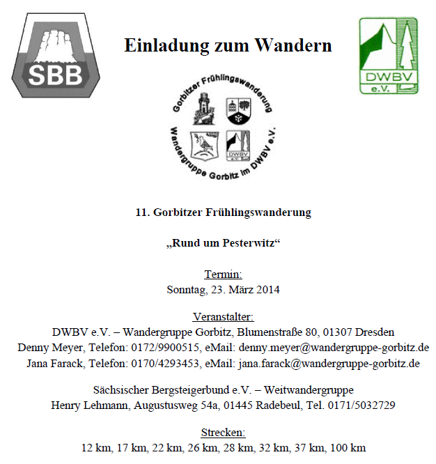 Marche de Printemps de Gorbitz (D); 100km; 23/3/2014 Gorbit10