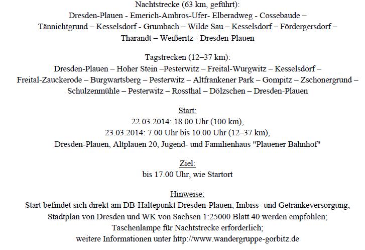 Marche de Printemps de Gorbitz (D); 100km; 23/3/2014 Gorbit11