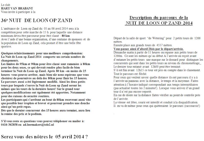 Nuit de Loon op Zand (NL): 15 heures ou 80km: 05-06/04/2014 Loon_o11