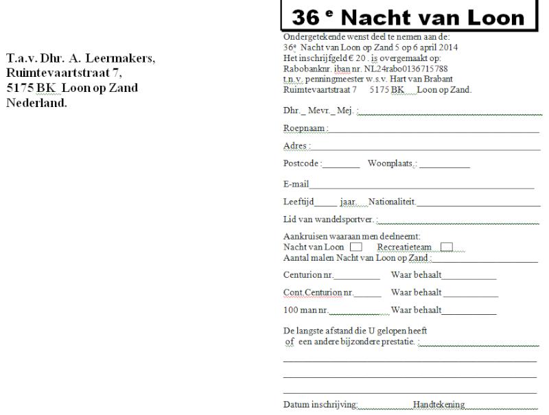 Nuit de Loon op Zand (NL): 15 heures ou 80km: 05-06/04/2014 Loon_o14