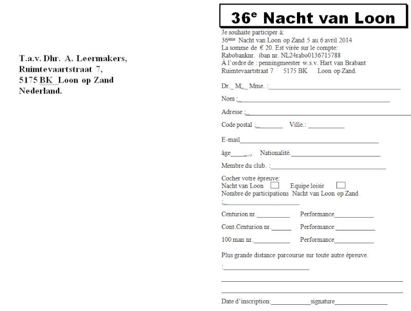 Nuit de Loon op Zand (NL): 15 heures ou 80km: 05-06/04/2014 Loon_o15