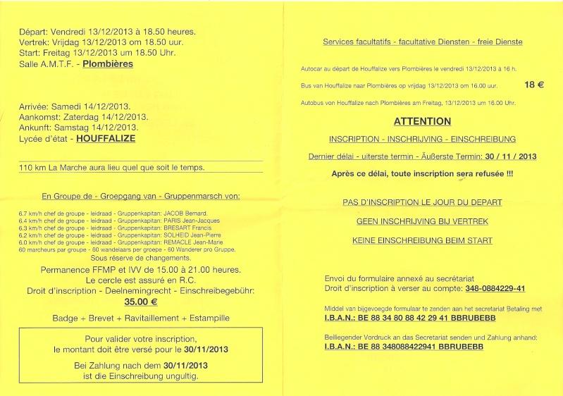 Plombières-Houffalize (B); 110km: 13-14 décembre 2013 Numari26