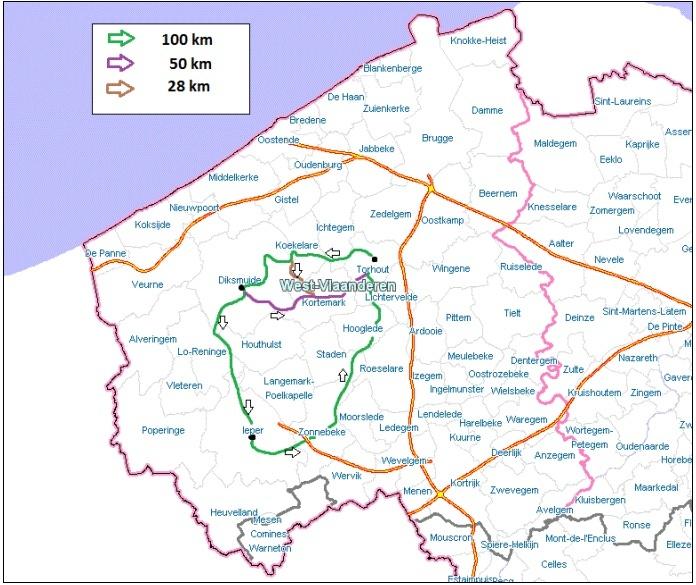 Sur la ligne de front 14-18: 100km à Torhout (B): 15/8/2014 Parcou10