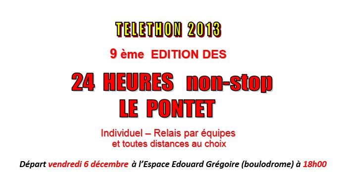 24 heures Le Pontet (84); Téléthon; 06-07 décembre 2013 Pontet10