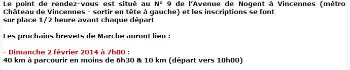 Brevets de Vincennes: 10, 20, 30, 40 km: janv-fév 2014 Vincen10