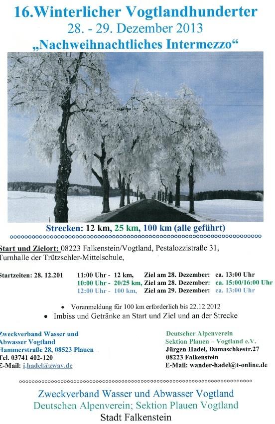 100km hivernal dans le Vogtland (Allemagne): 28-29 /12/ 2013 Vogtla11