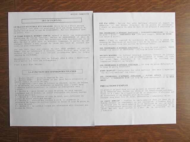 NOTICES AES : double notice en français des versions GUILLEMOT (listing) - Page 3 Notice11