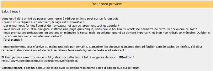 Un outil pour rédiger vos articles offline : BBeditor Bbed210