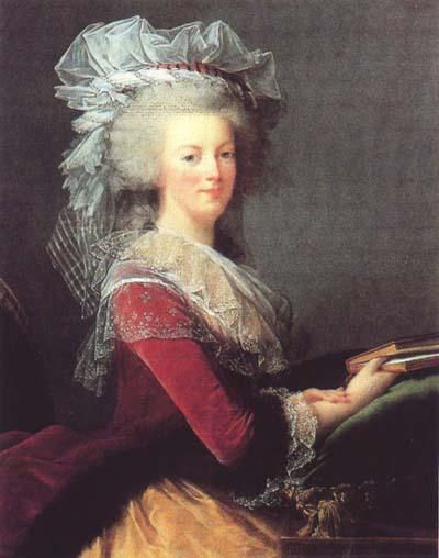 Premier portrait officiel de Marie-Antoinette par Mme Vigée-Lebrun (1778) Livre10