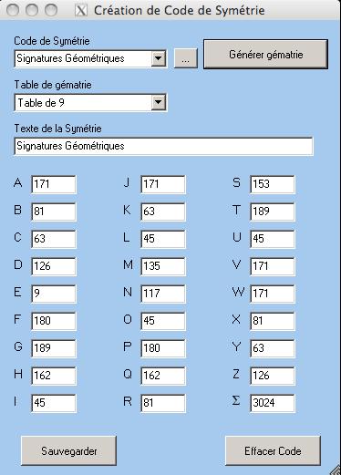 Signatures Géométriques / Génie  Sg12