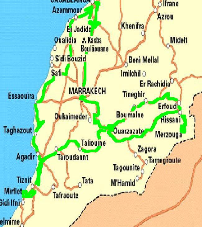 Suivez Mimouni junior sur les traces de nos ancestres Amazigh , Marrakech Merzouga Rissani dades Carte_10