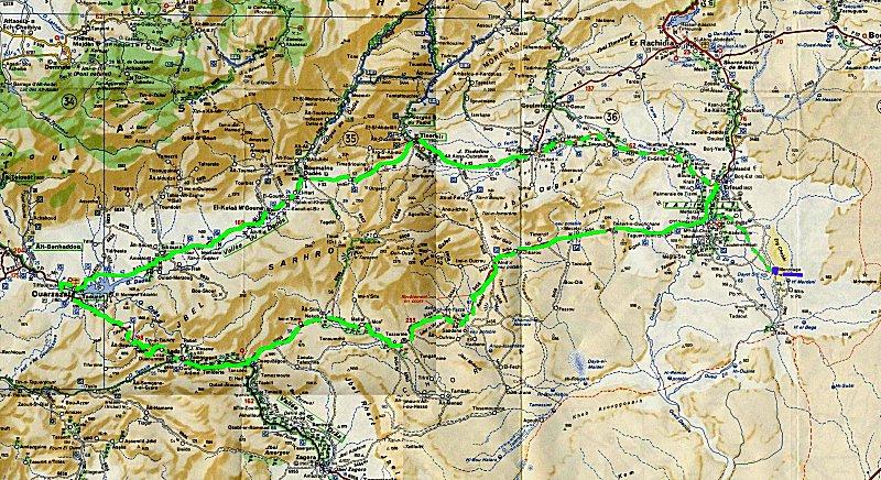 Suivez Mimouni junior sur les traces de nos ancestres Amazigh , Marrakech Merzouga Rissani dades Carte_13