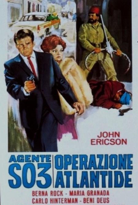 003 Agent secret. Agente S.03. Operazione Atlantide.1965. Domenico Paolella. Agente10