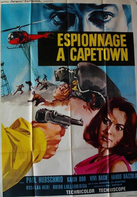 Espionnage à Capetown. Upperseven, l'uomo da uccidere. 1966. Alberto de Martino Moviec11