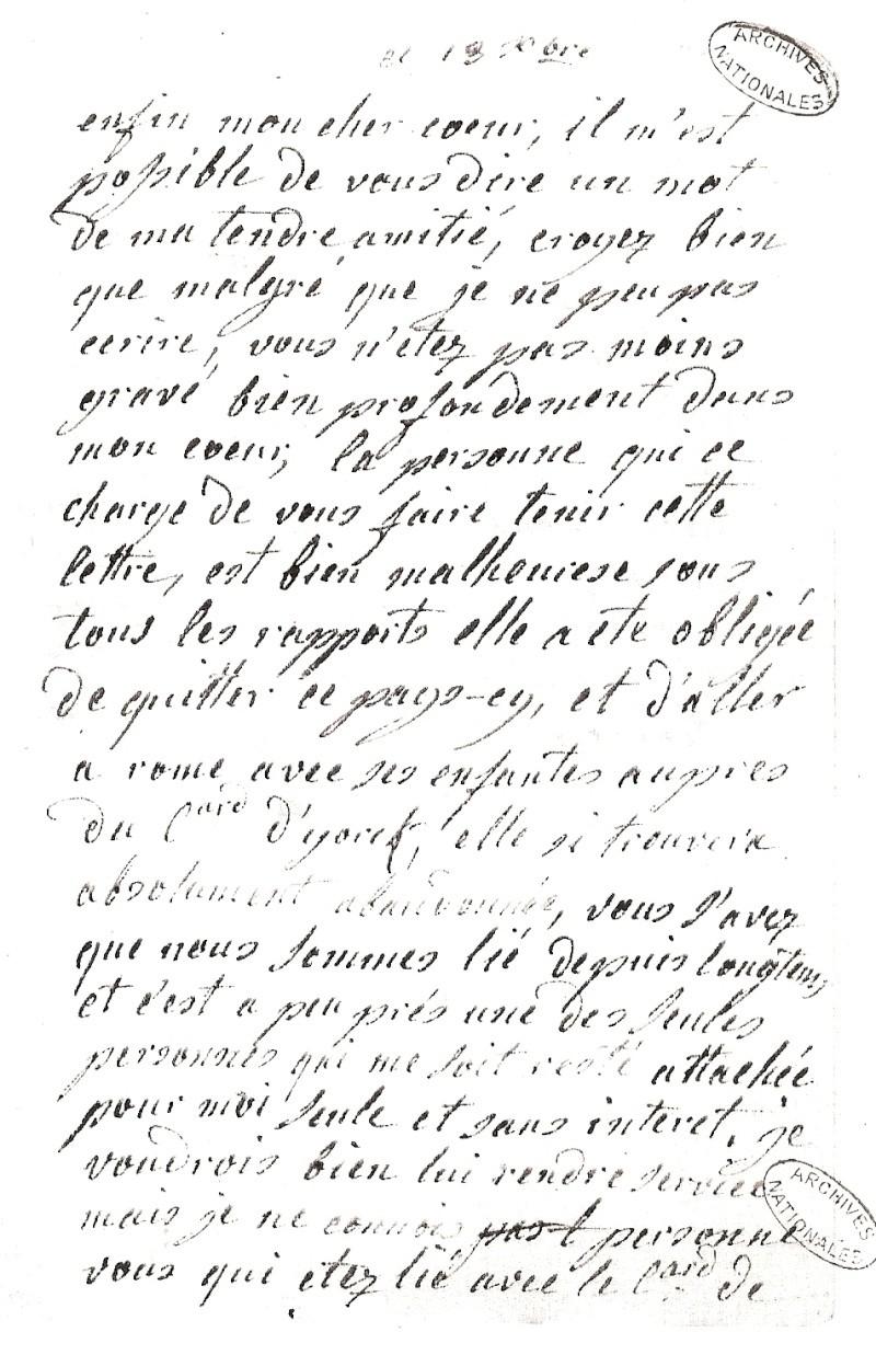 Les lettres de Marie-Antoinette à Madame de Polignac - Page 4 Numari17