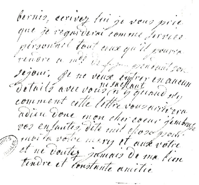 Les lettres de Marie-Antoinette à Madame de Polignac - Page 4 Numari18