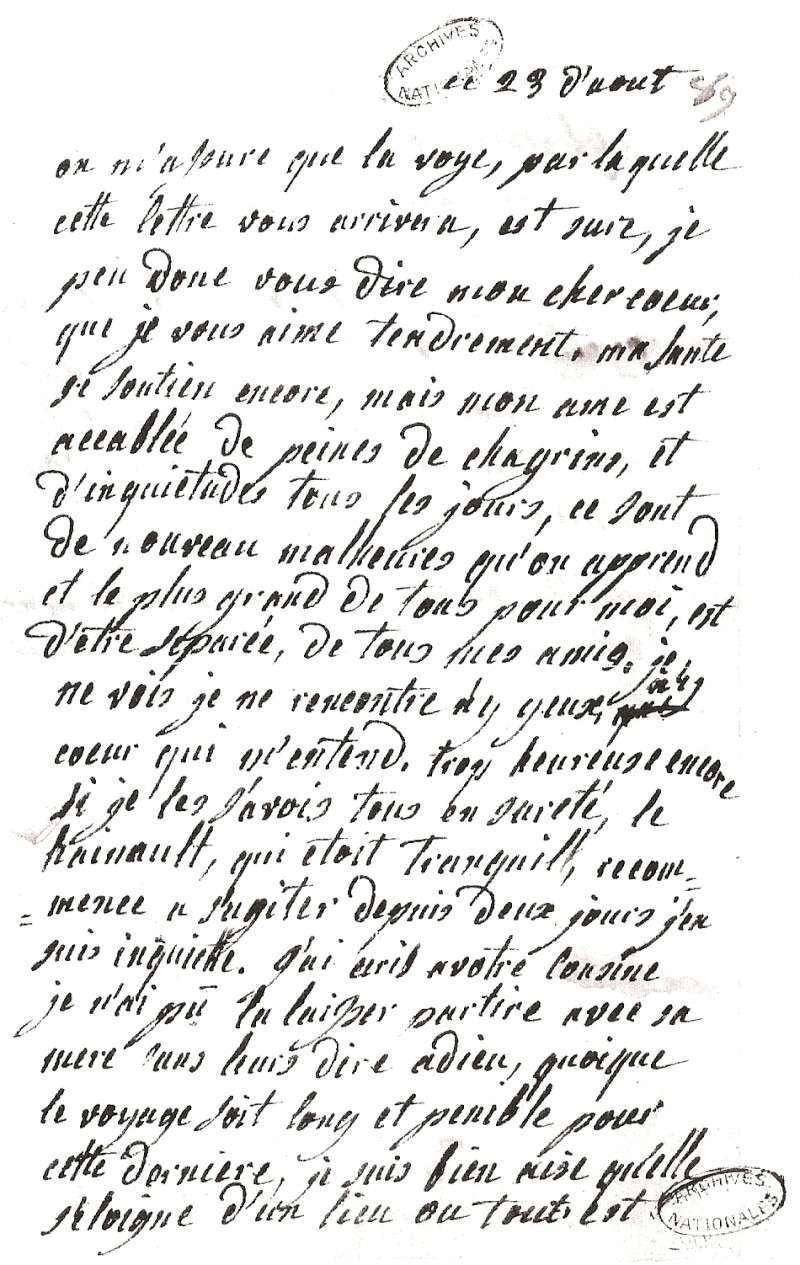 Les lettres de Marie-Antoinette à Madame de Polignac - Page 4 Numari25