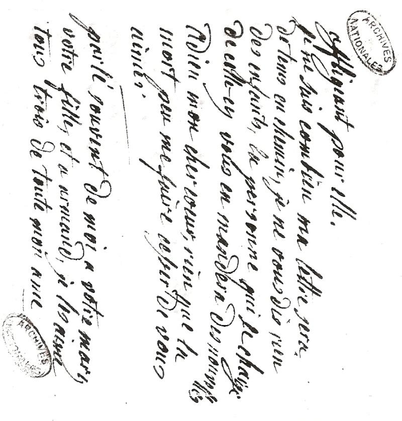 Les lettres de Marie-Antoinette à Madame de Polignac - Page 4 Numari26