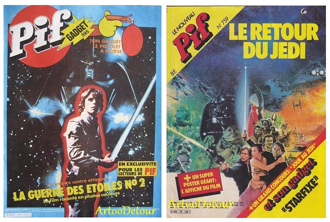 Meccano Star Wars adverts from French PIF Gadget comic magazine Pif_5911