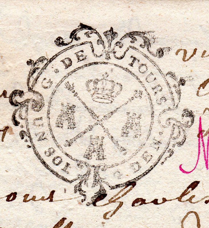 timbres fiscaux du XVII et XVIII eme siècle de la Généralité de Tours 104110