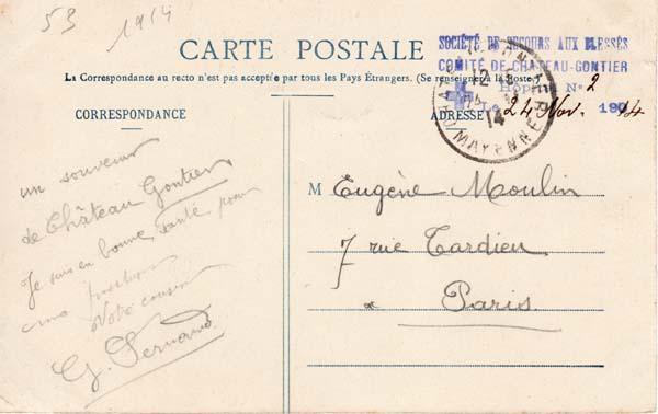 1914 hopital chateau gontier 24_nov10