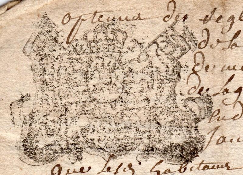 timbres fiscaux du XVII et XVIII eme siècle de la Généralité de Tours 504510