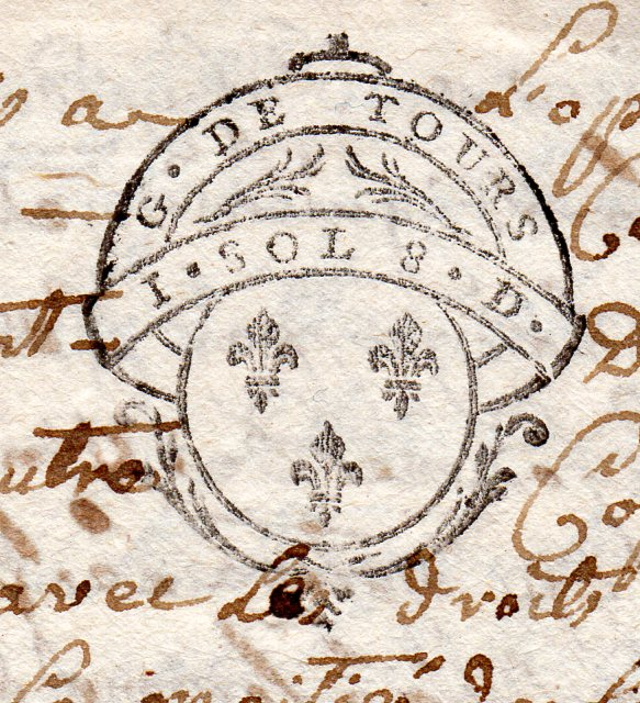 timbres fiscaux du XVII et XVIII eme siècle de la Généralité de Tours 704710